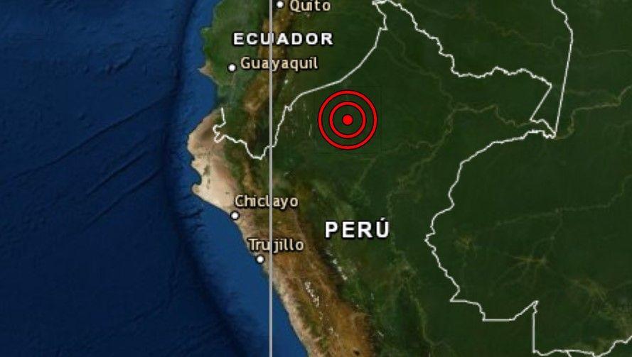 Sismo de magnitud 4.8 se registró hoy en Alto Amazonas Loreto