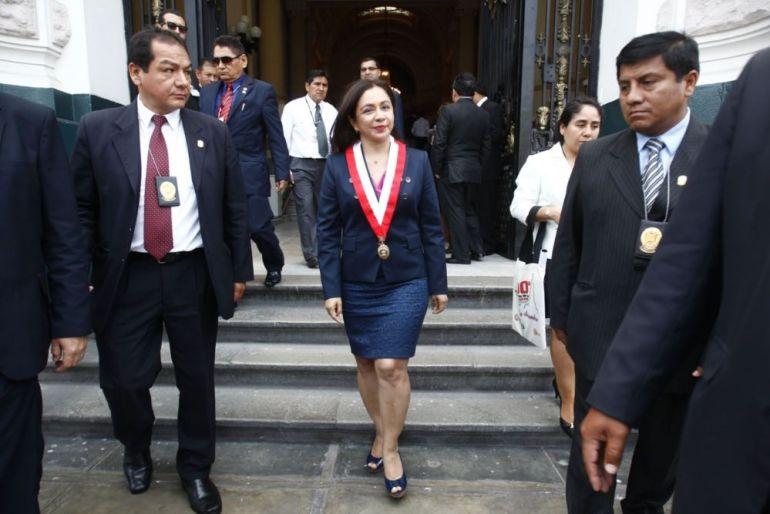 Marisol Espinoza en el Congreso