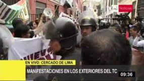 Protesta en el TC