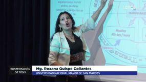 Roxana Quispe sustentó tesis en quechua