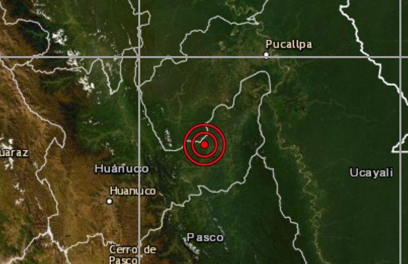 Sismo en Huánuco
