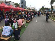 Actividades en avenida Brasil