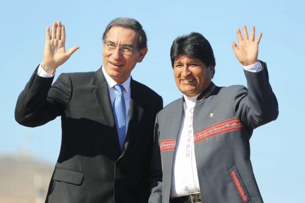 Martín Vizcarra y Evo Morales