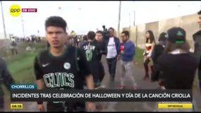 Fiestas de Halloween terminan en excesos y disturbios en Lima