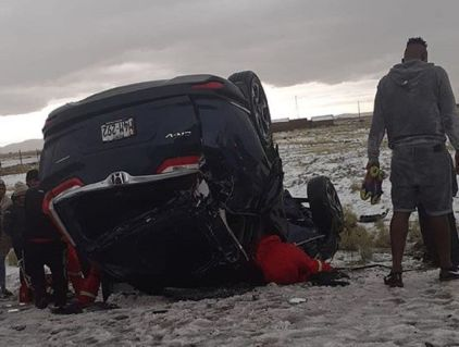 Terrible accidente en Puno con jugadores del Binacional