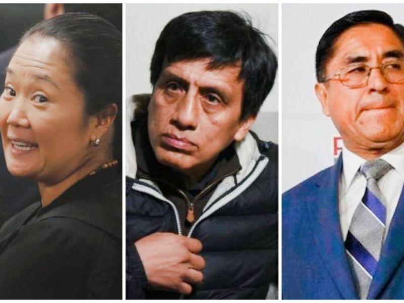 Keiko Fujimori, Antonio Camayo y César Hinostroza