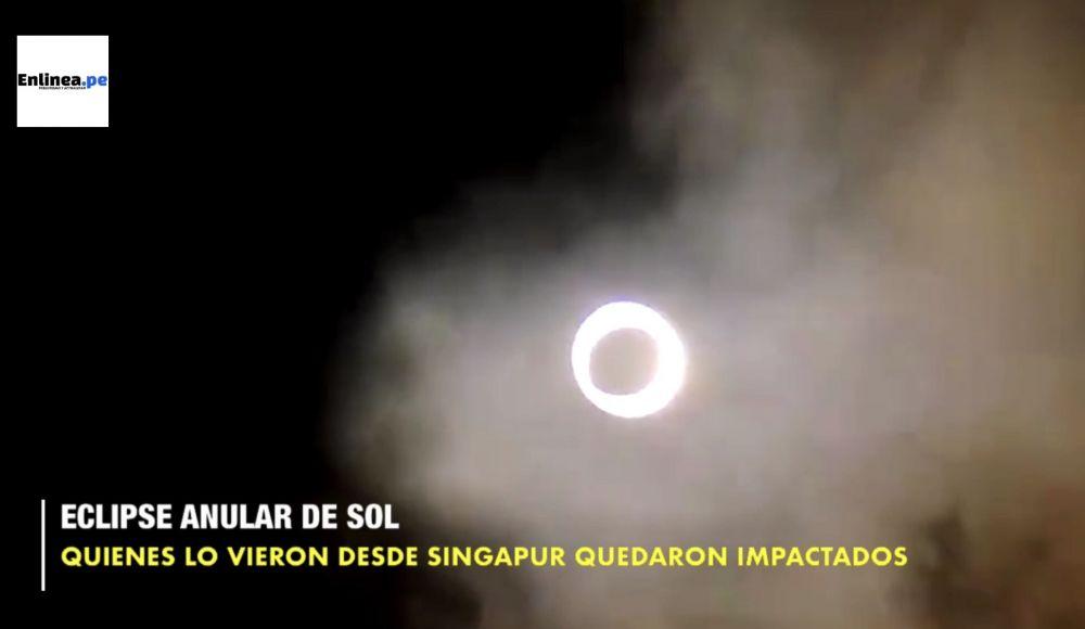 El eclipse solar que formó un anillo de fuego se vio así en 5 ciudades