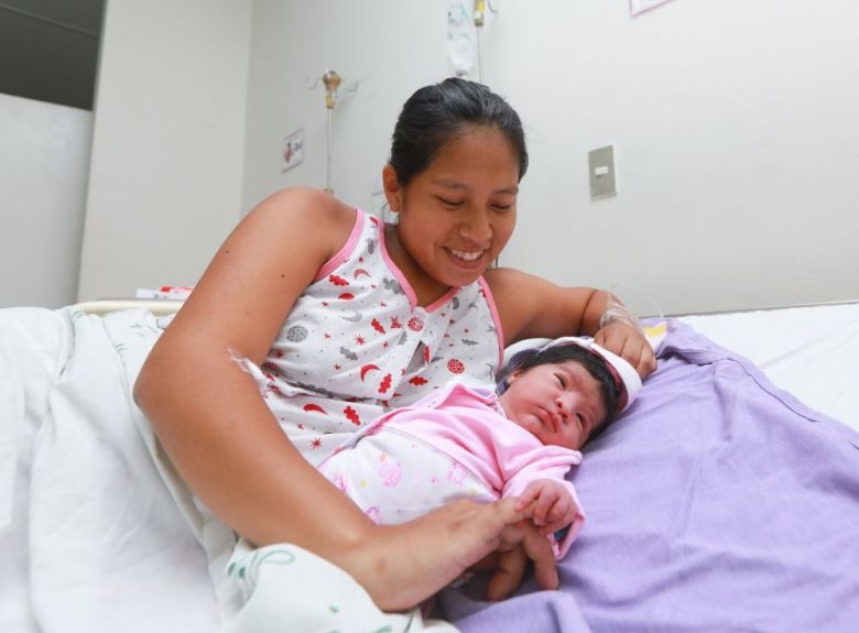 La primera bebé del 2020 en Huaycán