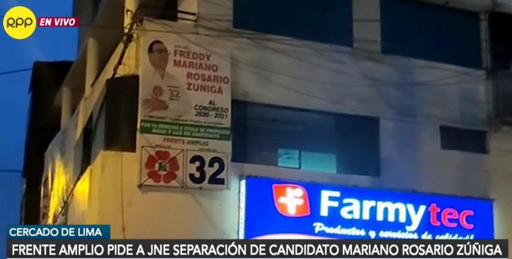 Candidato del Frente Amplio fue detenido