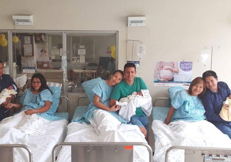 Giovani es el primer bebé del 2020 en el Perú, seguido de Anthony y Amy
