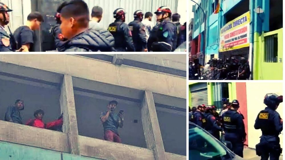 Venezolanos armados invaden edificio de fonavistas y policía los detuvo