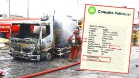 Camión cisterna que provocó deflagración e incendio en Villa El Salvador registra cambio de placa