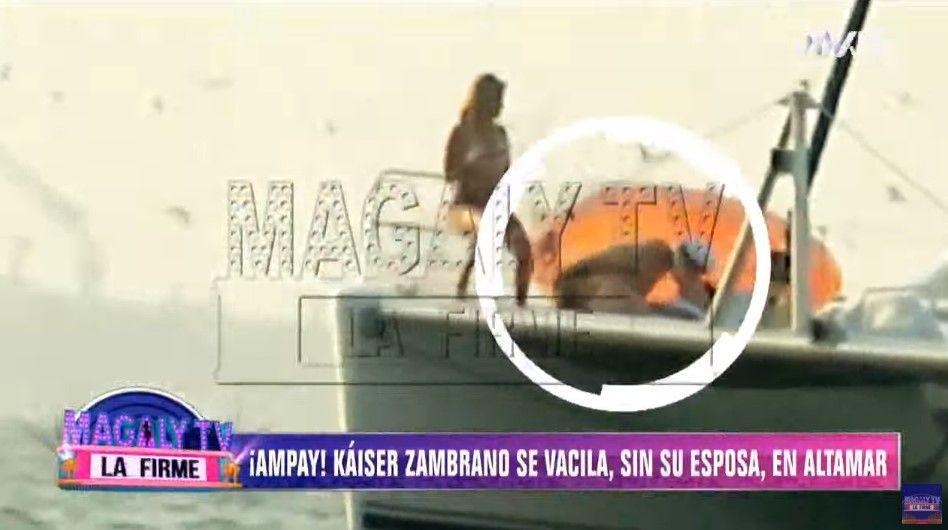 Ampay a Carlos Zambrano en yate y con bellas mujeres revela Magaly TV