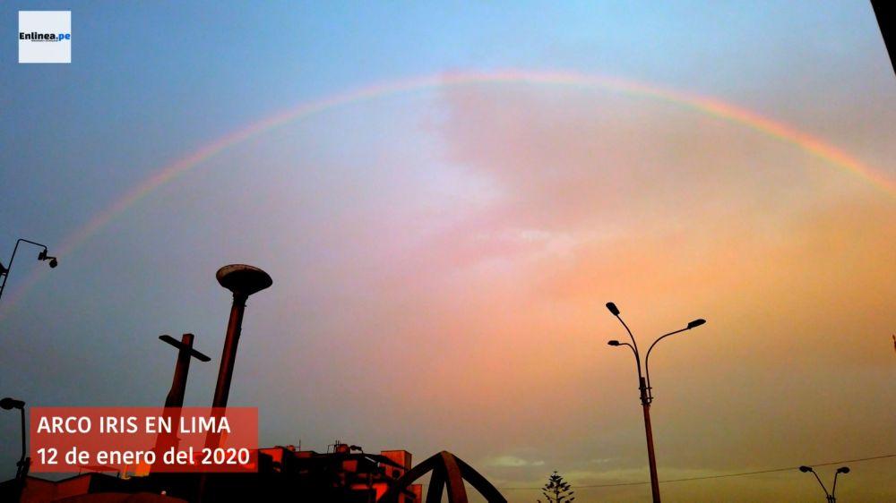 Un arcoíris apareció en Lima y aquí te dejamos el video por si te lo perdiste