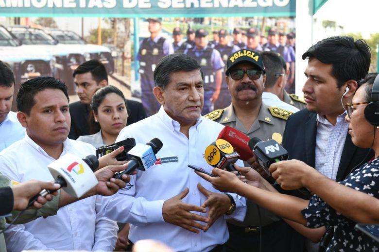 Ministro del Interior Carlos Morán