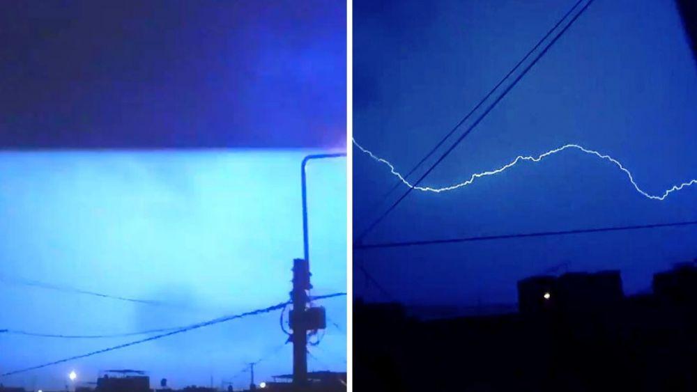 Arequipa: Tormenta con rayos y truenos alarma a la Ciudad Blanca