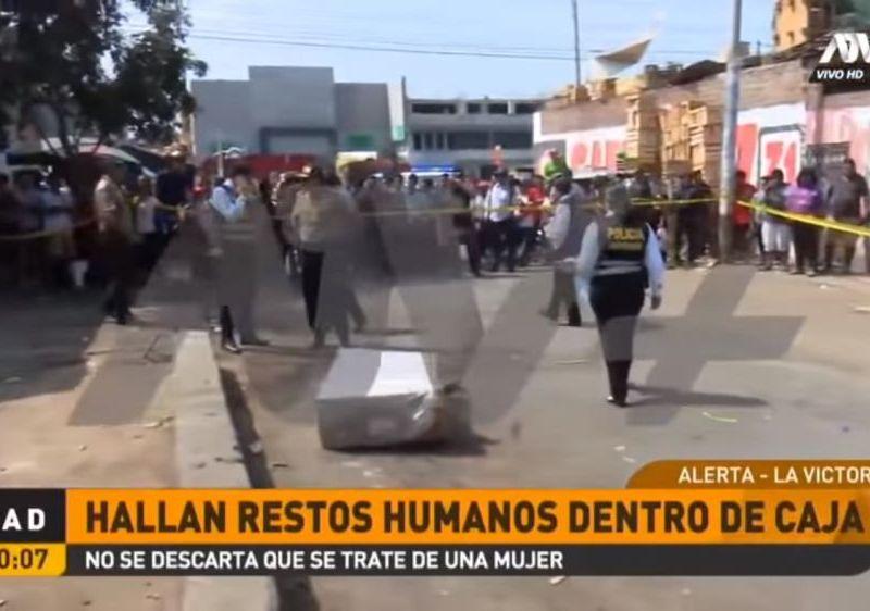 Encuentran restos de una mujer en una caja cerca al Mercado de Frutas