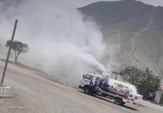 Otra fuga de gas se registra en un camión cisterna en Cieneguilla