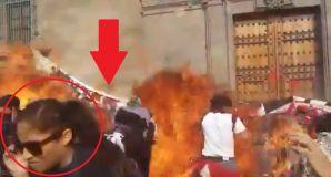 Explosión quemó a fotógrafa y a varias mujeres