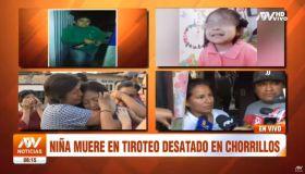 Niña muere en tiroteo en Chorrillos