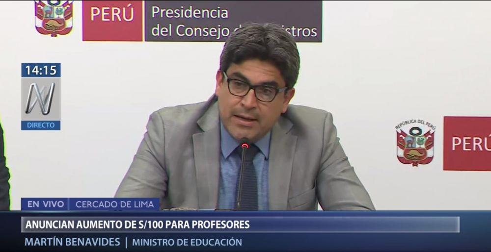 Profesores del Perú tendrán aumento de sueldo de S/. 100 y ahora ganarán S/. 2,300