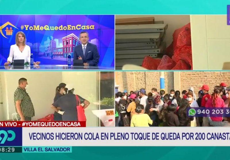 Miles rompen cuarentena en Villa El Salvador por recibir canastas del Deportivo Municipal