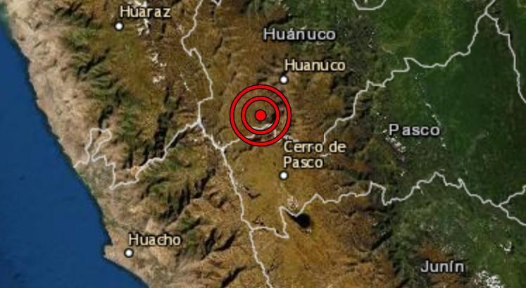 Dos sismos se registran en la localidad de Ambo en Huánuco