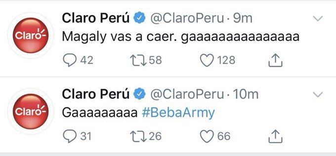 Beba Army tomó control del Twitter de Claro Perú
