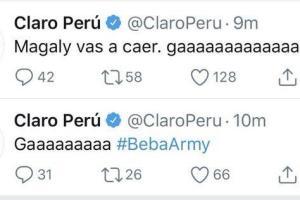 'Beba Army' hackeó la cuenta de Claro y le envió mensaje a Magaly Medina