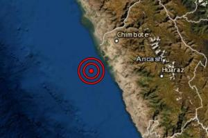 Sismo de magnitud 4.9 se registró hoy en la región Áncash y se sintió en Chimbote