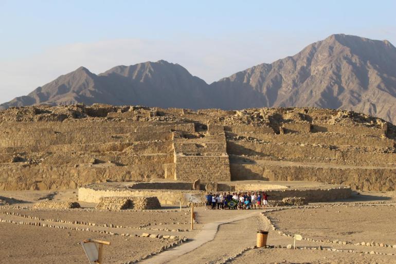 Pirámide principal de Caral