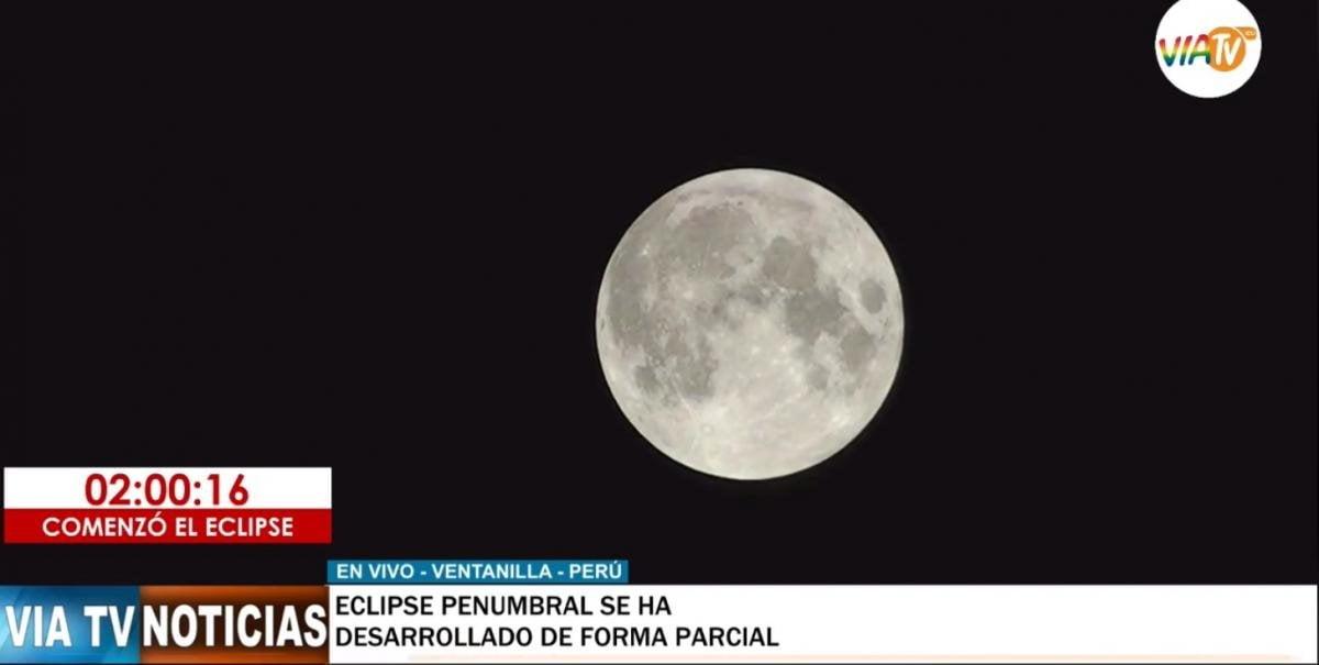 Luna de trueno 2020, eclipse en vivo desde Perú