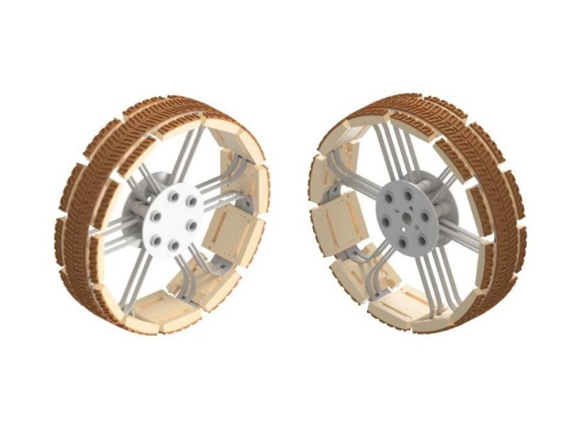 Rueda del Rover con innovación en el diseño para la Luna y Marte