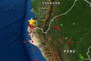 Sismo en Tumbes de magnitud 4.5 se registró hoy 15 de septiembre