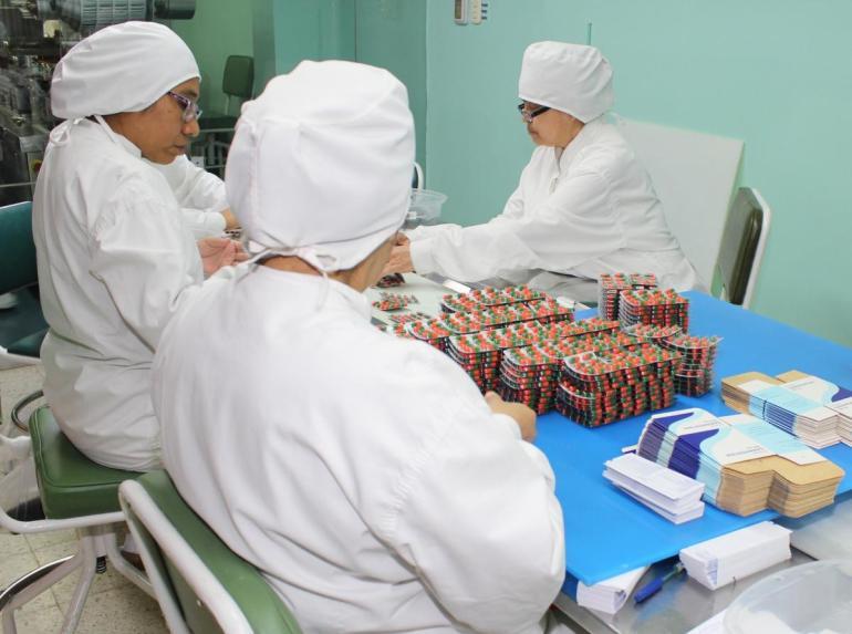 Productos farmacéuticos prensa