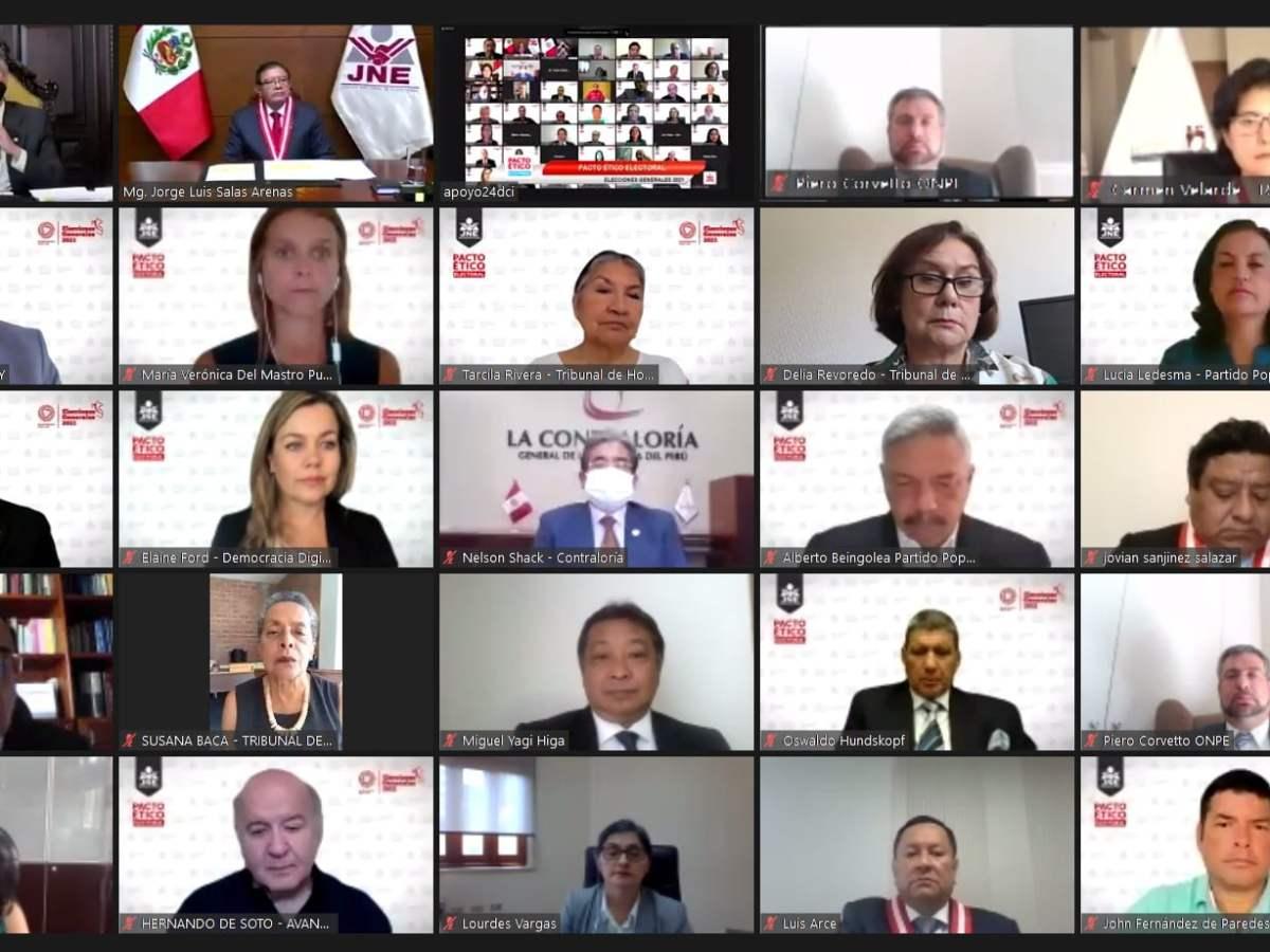 17 partidos políticos que participan en las Elecciones Generales 2021 (EG-2021) suscribieron el Pacto Ético Electoral