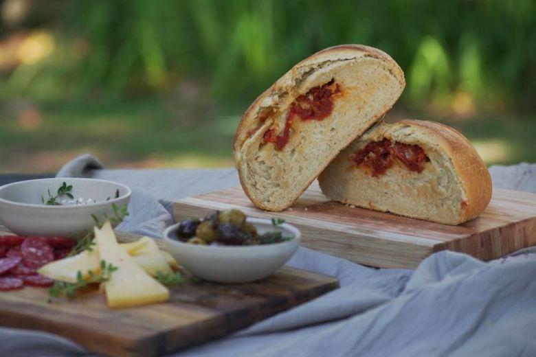 Pan de campo relleno