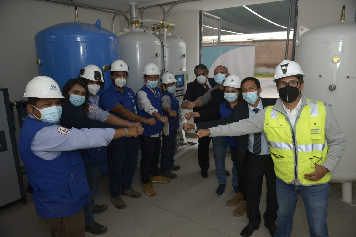 Planta de oxígeno llegó a Arequipa
