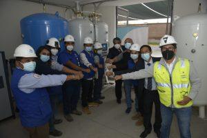 Primera planta de oxígeno de la UNI llega al Instituto Regional de Enfermedades Neoplásicas de Arequipa