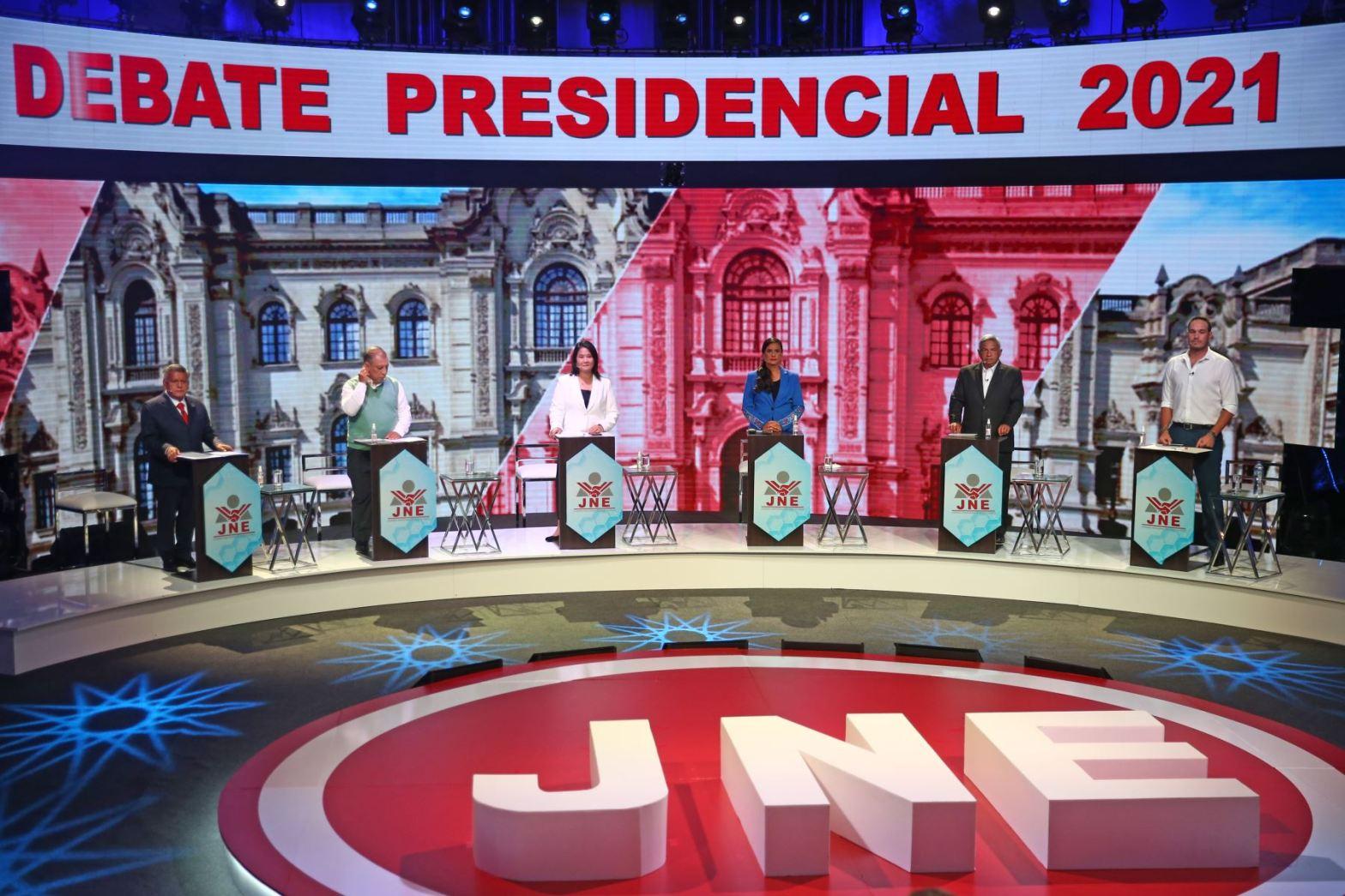 Debate presidencial en vivo 2021