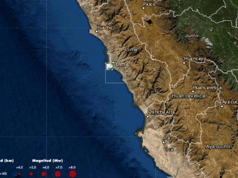Sismo hoy en Lima