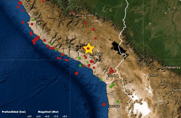 Temblor hoy en Arequipa: Sismo de magnitud 4.9 se registró hoy 17 de abril en Quilca