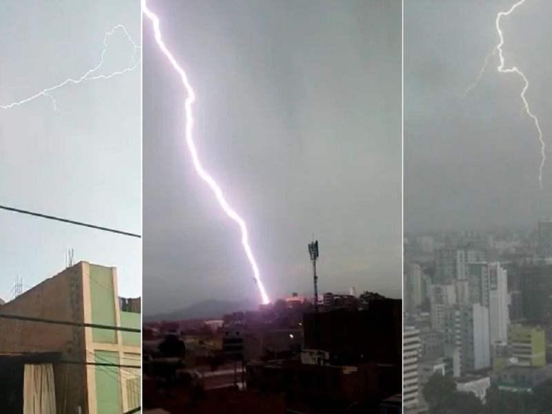 Videos de relámpagos, rayos y truenos en Lima
