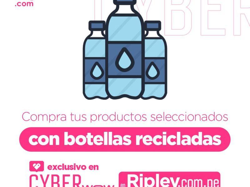 Cyber Wow: Paga con botellas de plástico