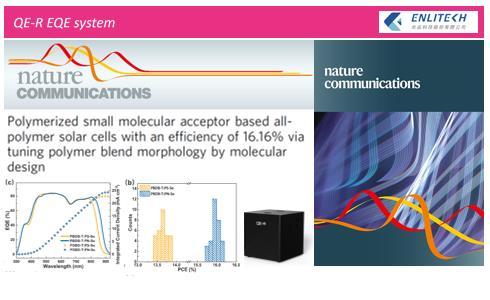 量子效率 全聚合物太陽能電池 16.16%效率