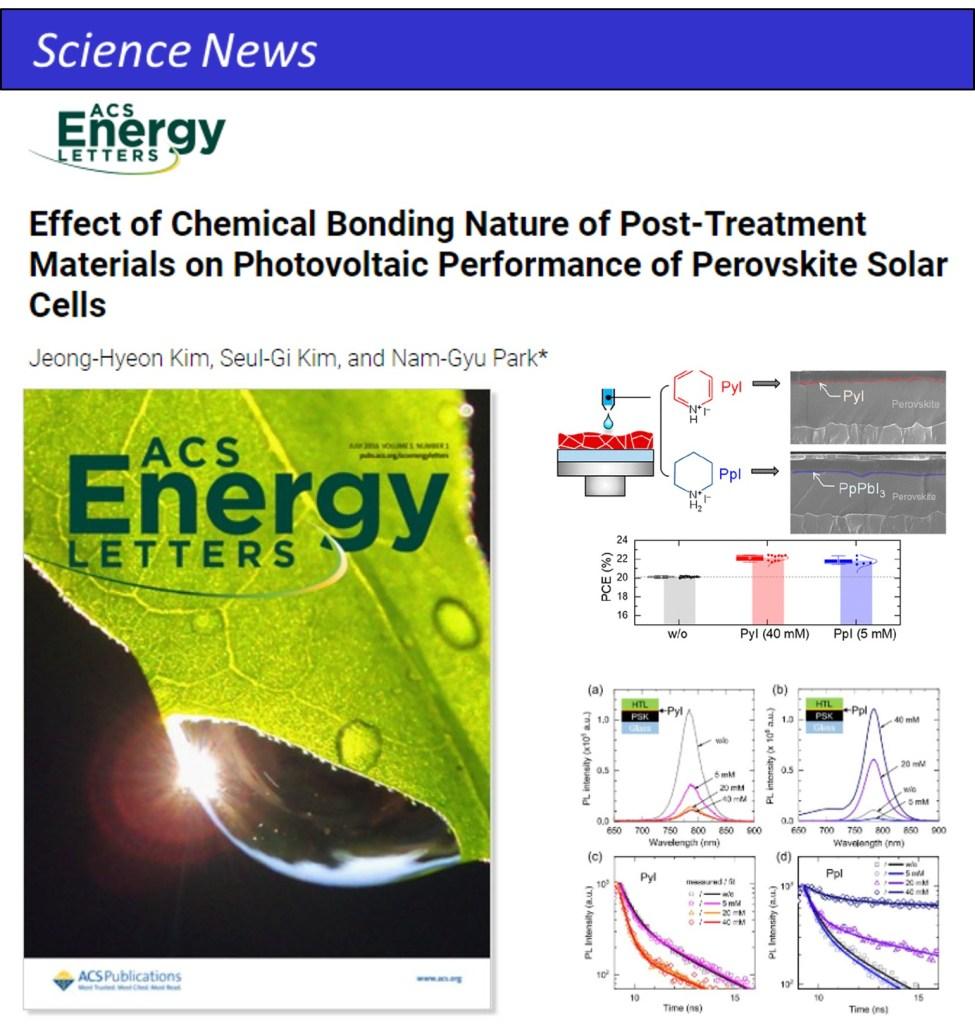 ACS Energy Lett. PCE 22.26% Perovskite Solar Cells 鈣鈦礦