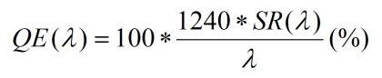 External Quantum Efficiency外部量子效率公式 EQE