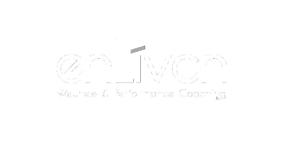 Enliven logo, white.