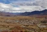 Vista del pueblo de Lonquimay desde Huachicahue