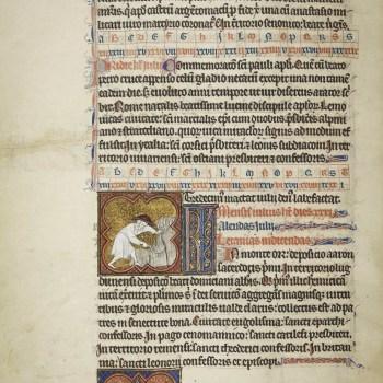 Martyrologe de Saint Germain des Prés. Folio 100